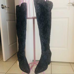 ♥️🖤 Gorgeous NINE WEST high boots  Sz 38.5!